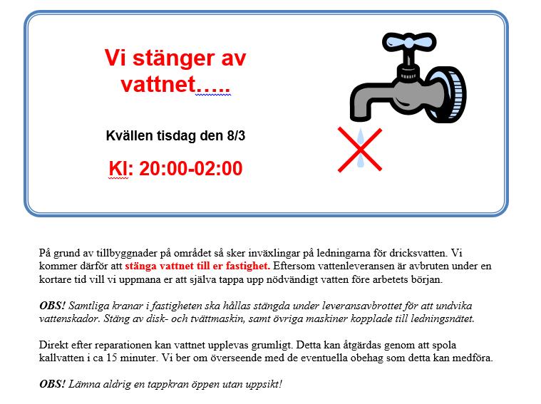 Vattenavstängning